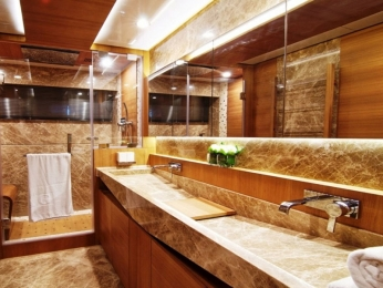 Italian bathroom brown marble: Bestone